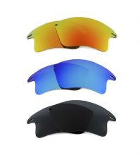 NEW POLARIZED FIRE/BLUE/BLACK CUSTOM XL LENS FOR OAKLEY FAST JACKET SUNGLASSES